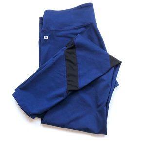 Fabletics Blue Mesh Detail Workout Leggings